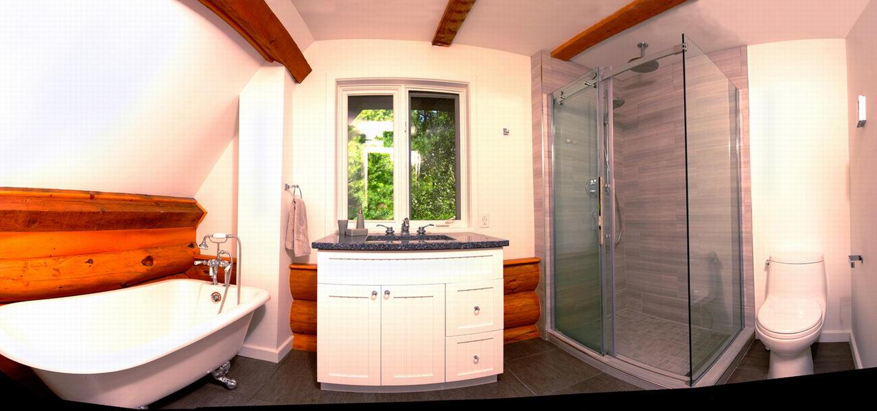 Scandinavian Log Home Bathroom Design & Renovate Project