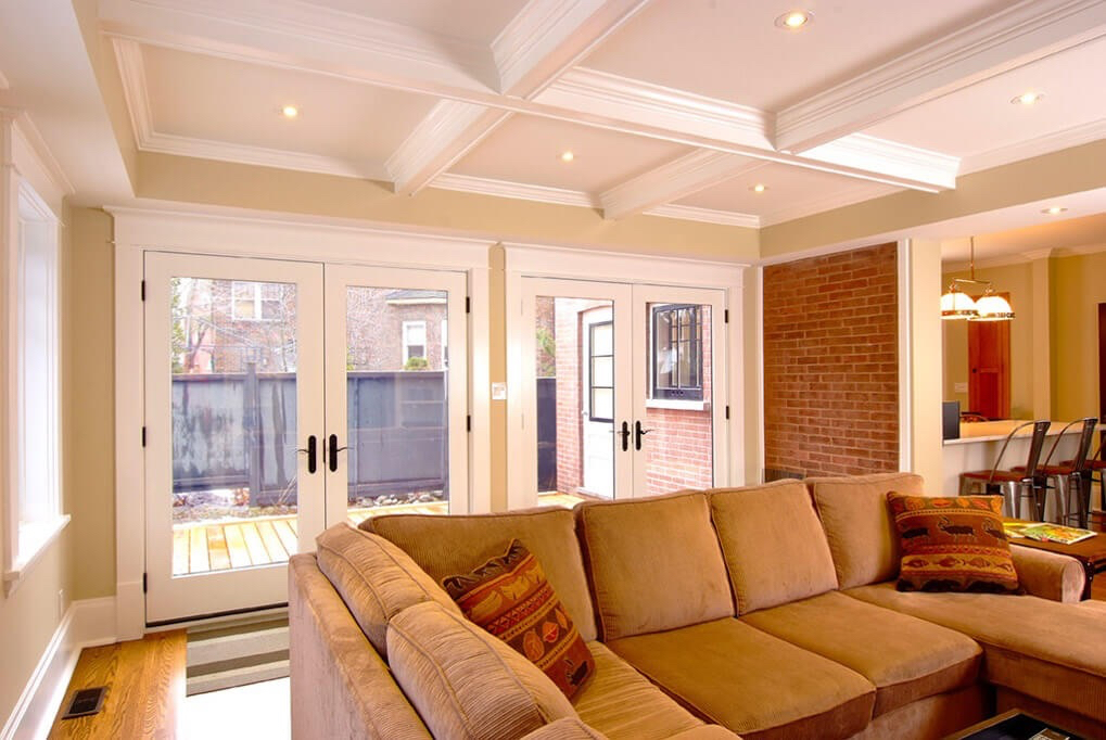 Design & Build Project: Benson Beauty - Living Room With Walk-Out French Doors