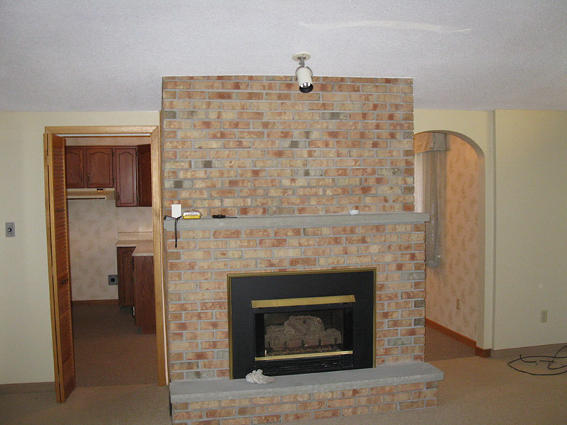 Design & Build Project: Chemong Lake - Floor To Ceiling Brick Fireplace