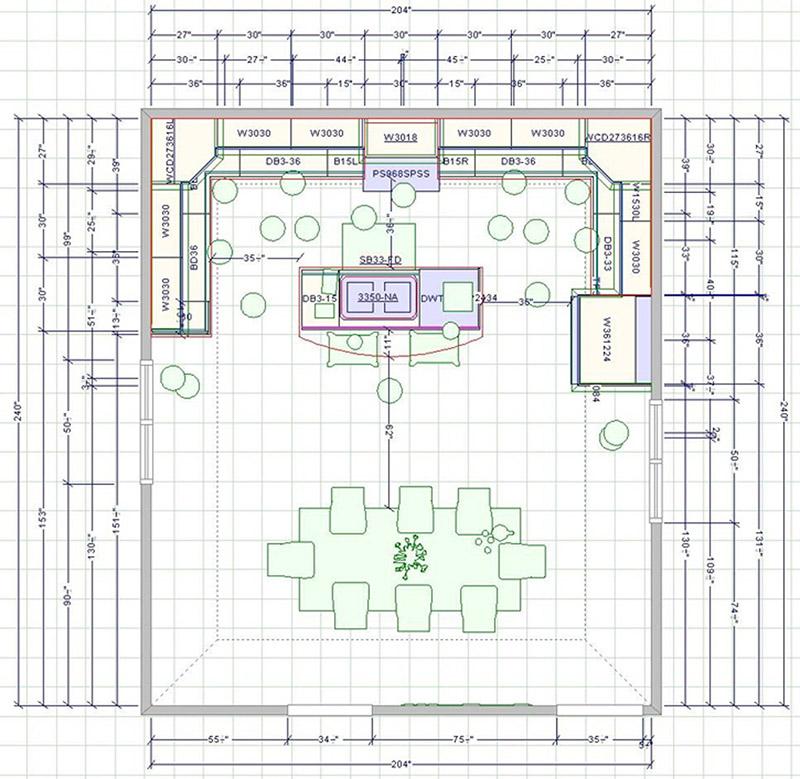 Design & Build Project: Chemong Lake - Floor Plan Rendering