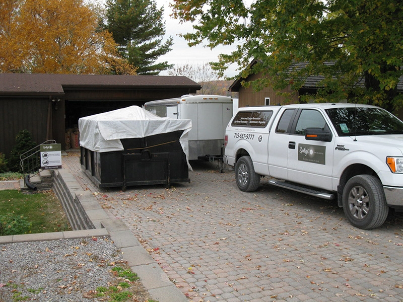Design & Build Project: Chemong Lake - Spotlight Truck In Driveway