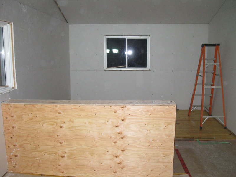 Design & Renovate Project: Mississagua Lake - New Drywall Installed