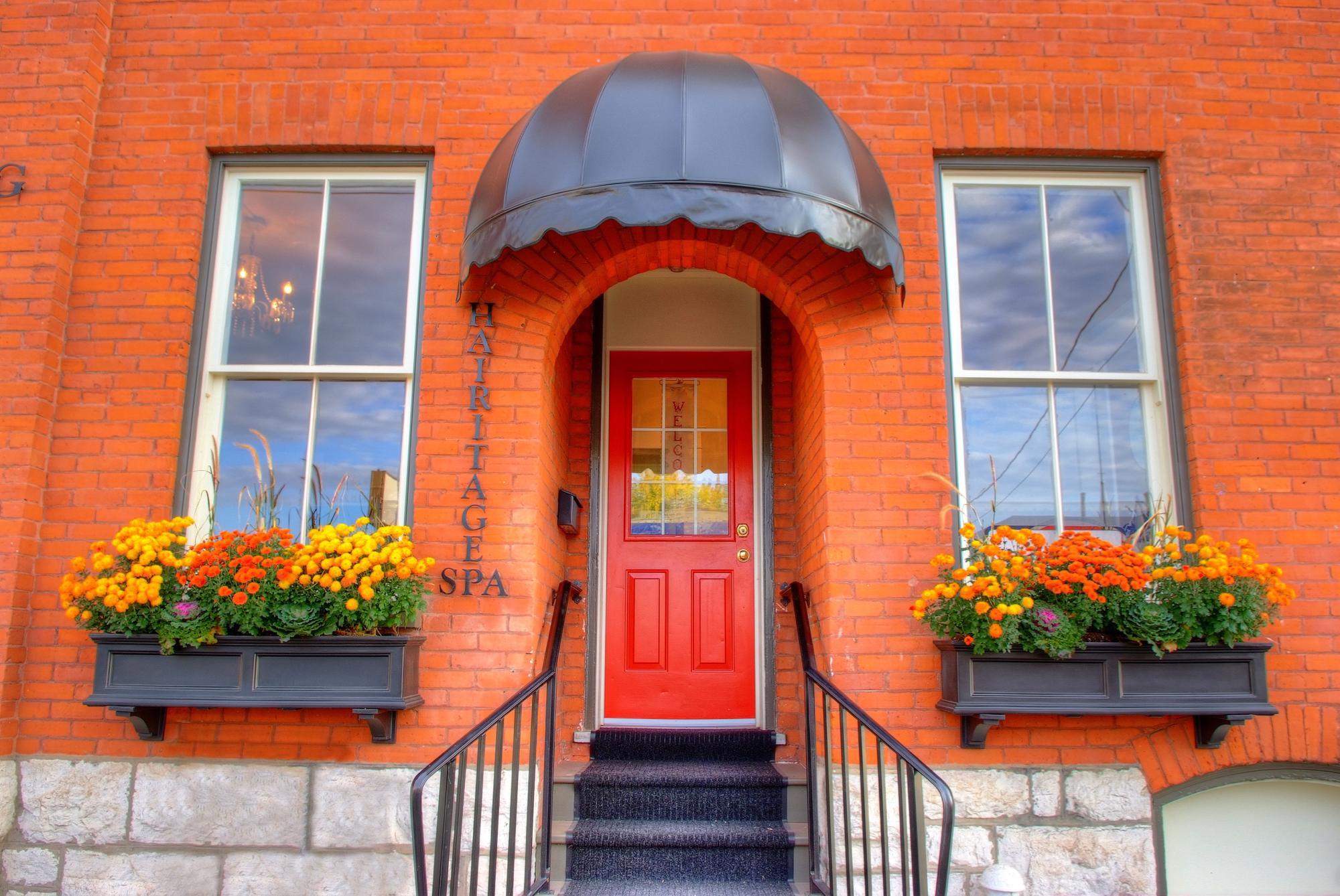 Design & Build Project: The Clark Building - Exterior Red Front Door
