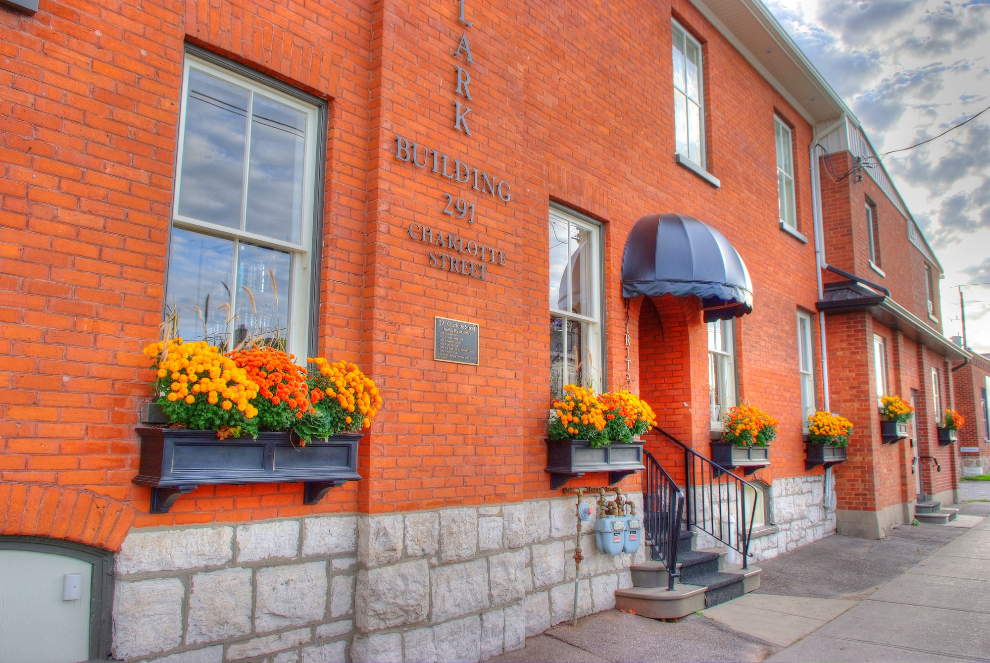 Design & Build Project: The Clark Building - Exterior Front with Awning