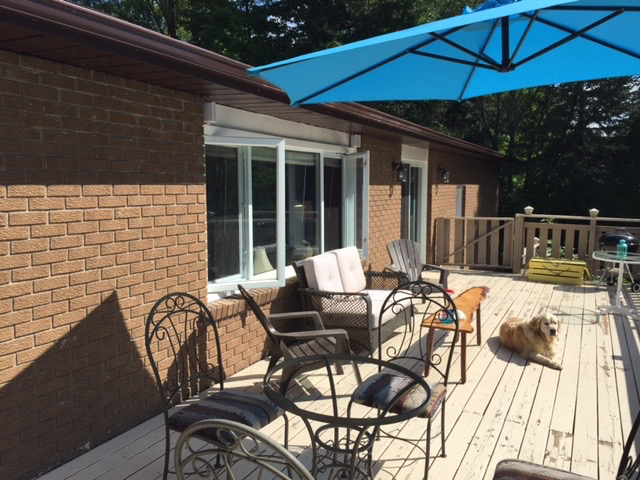 Design & Build Project: Multipurpose Entertainment - Deck With Blue Umbrella