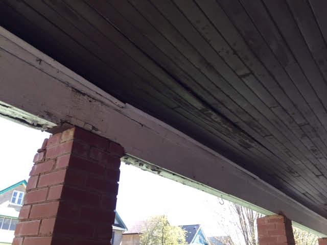 Design & Build Project: Historical Restoration - Exterior Font Porch Ceiling