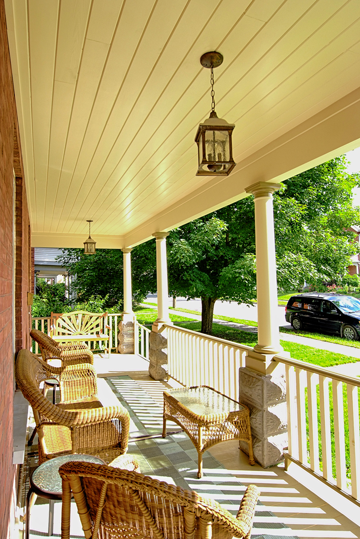 Design & Build Project: Historical Restoration - Exterior Font Porch With Ceiling Lantern