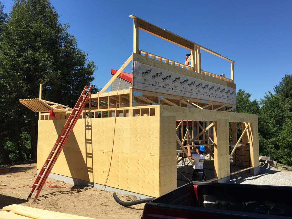Design & Build Project: Pontypool Possibilities - Constructing New Garage