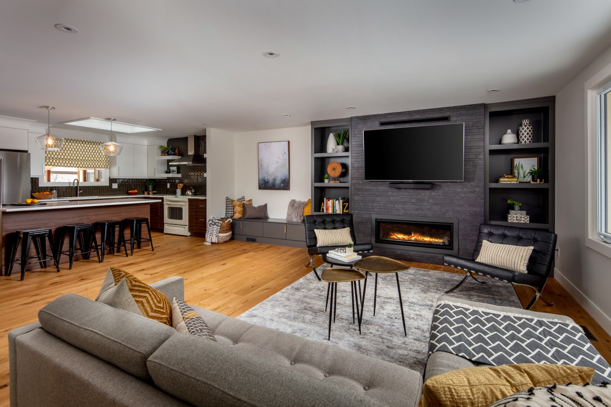 After: Living Room & Kitchen Renovation