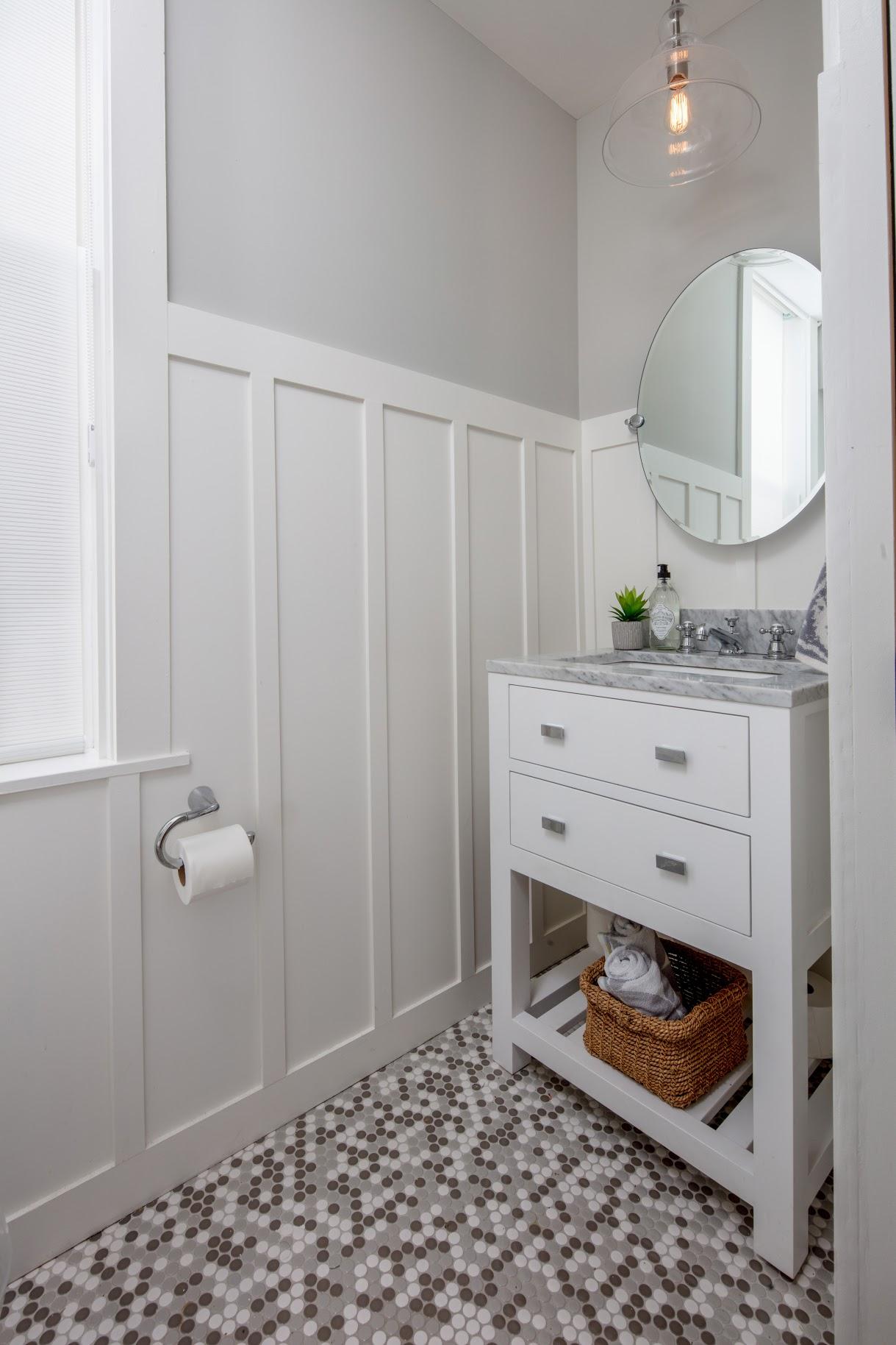 After: Bathroom Vanity With Trim Work