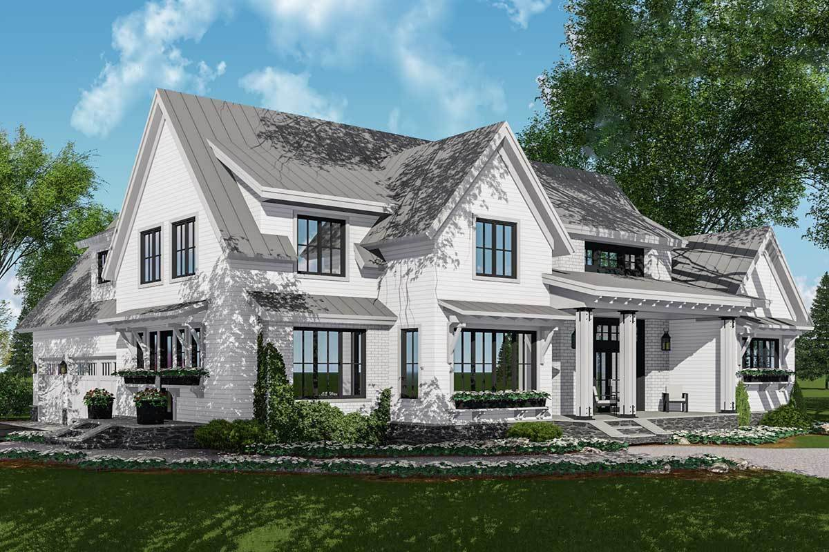 Rendering of a contemporary home