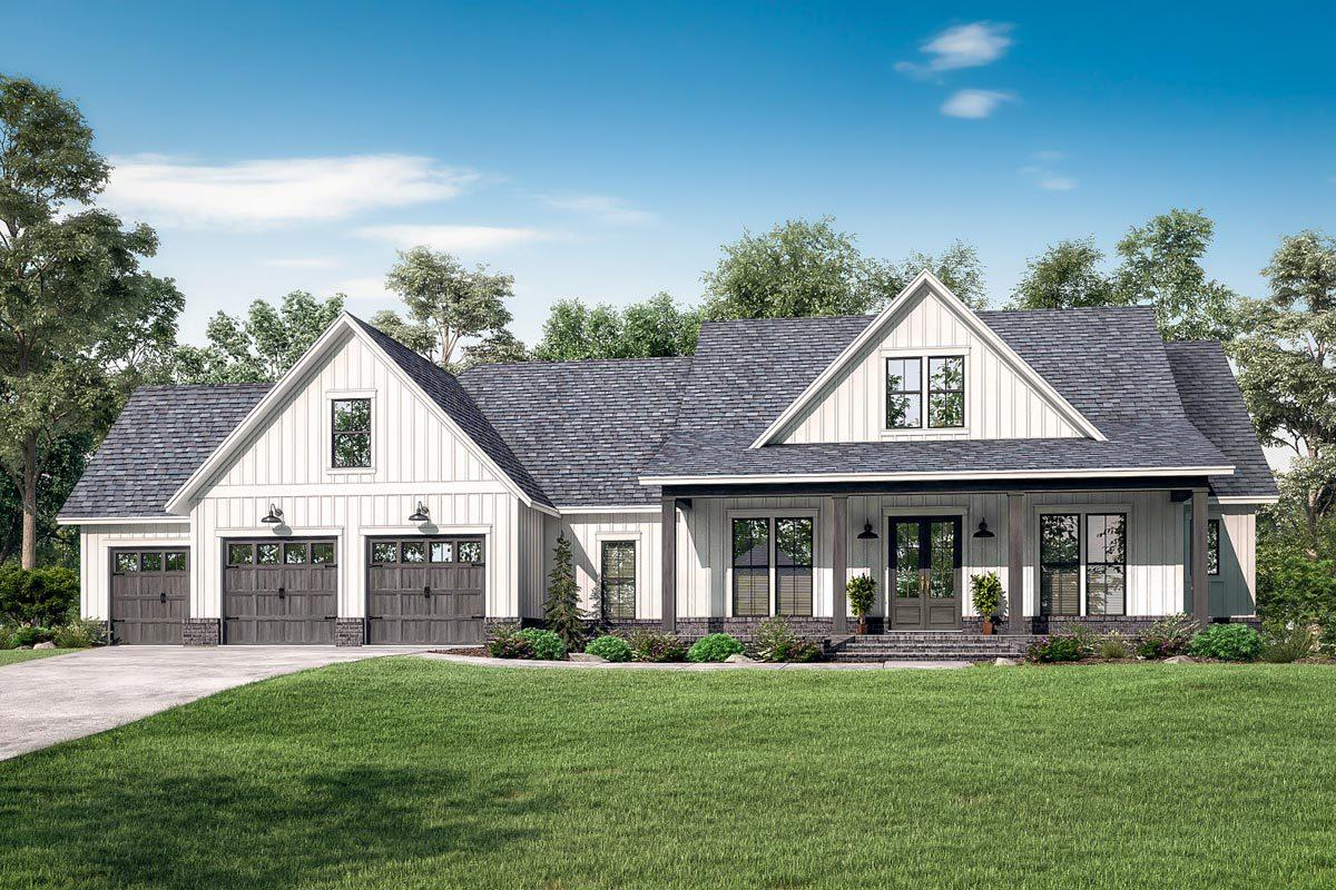 Rendering of craftsman home