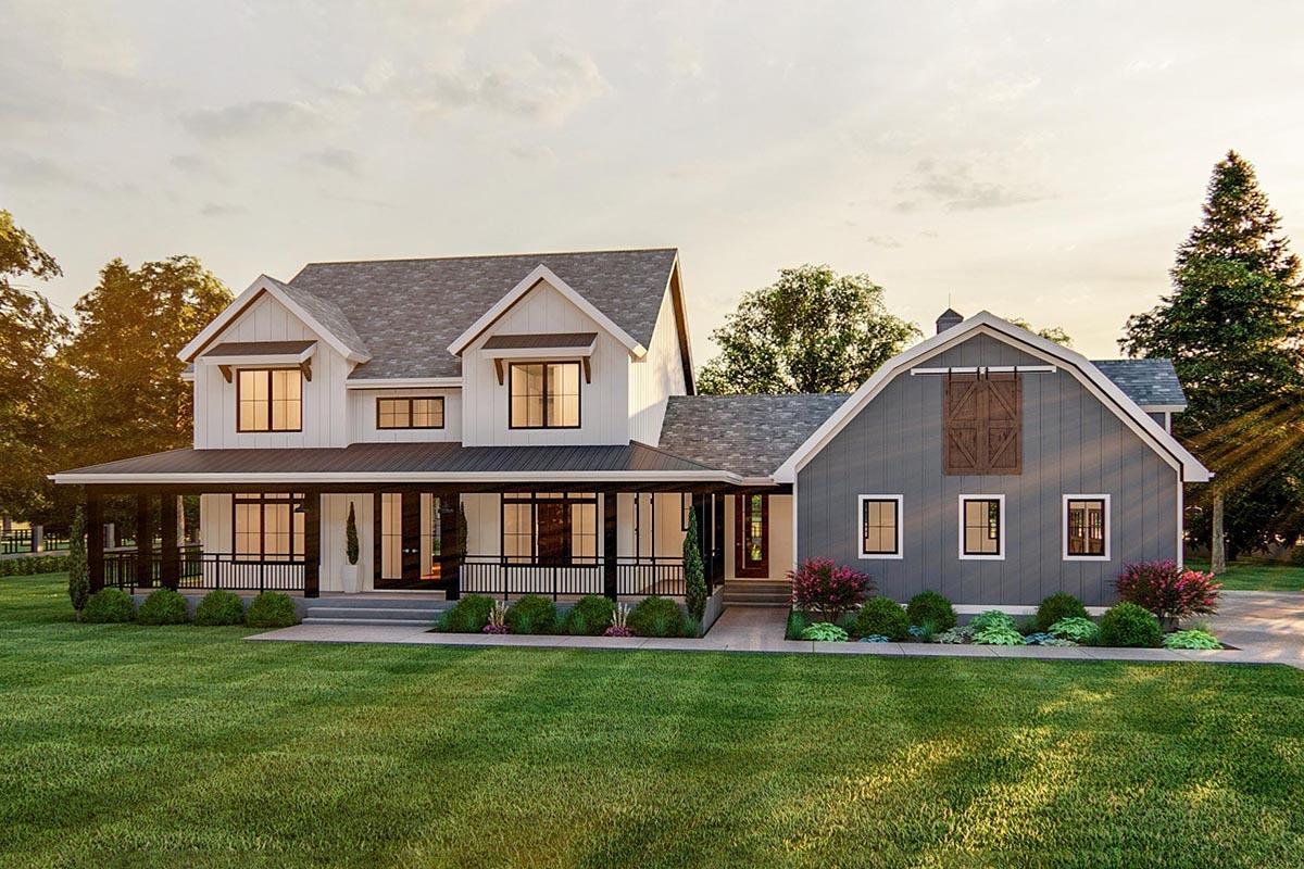 Rendering of modern farmhouse home