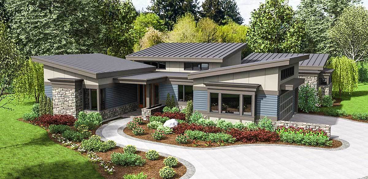 Rendering of contemporary home