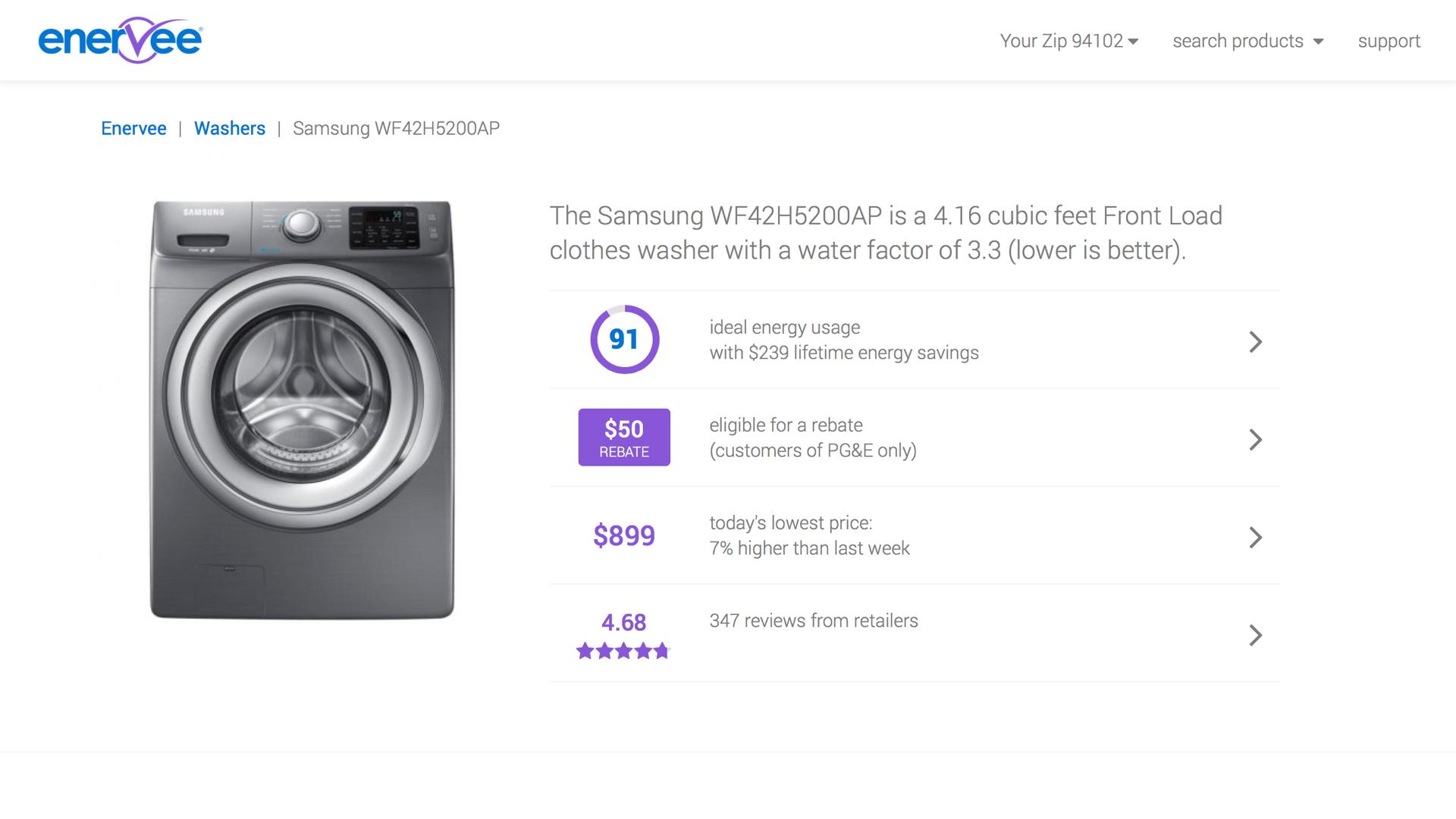 Marketplace product screenshot