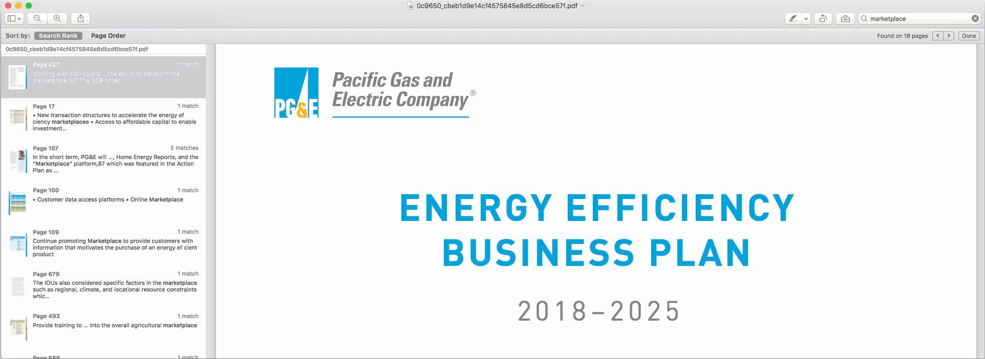PG&E Business Plan Relies on Enervee Marketplace