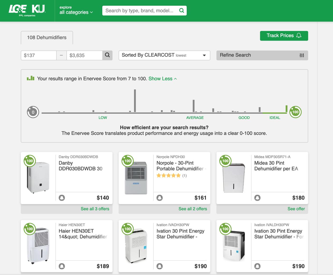 Marketplace results screenshot