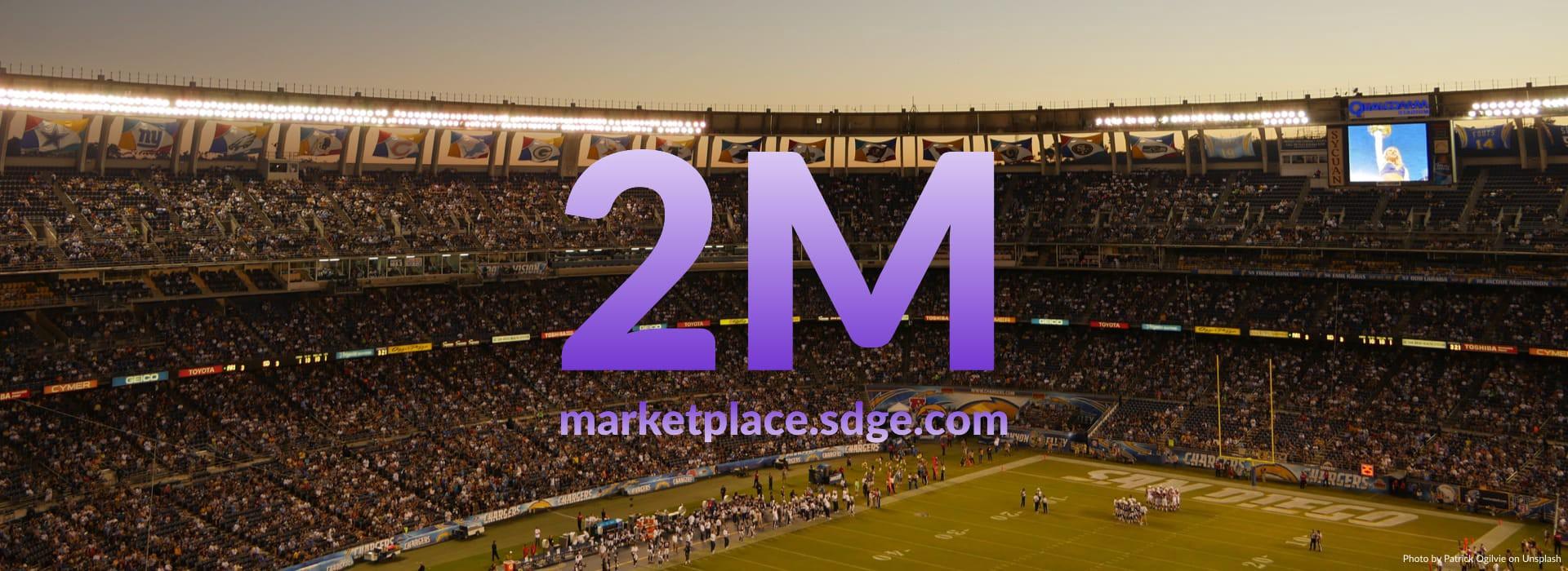 1.2 million customers, 2 million visits!