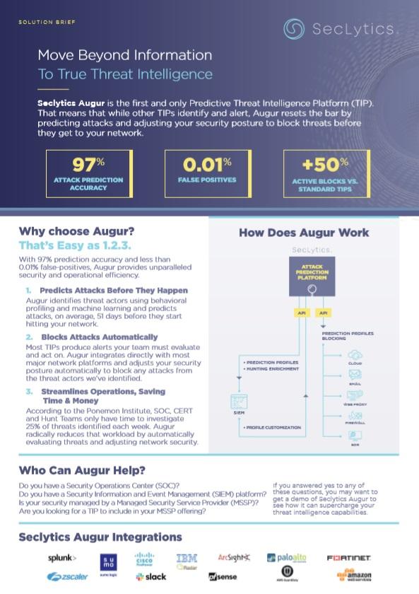 Augur Solution Brief