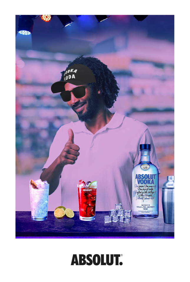 Absolut Vodka AR Promotion by Sensape at the POS