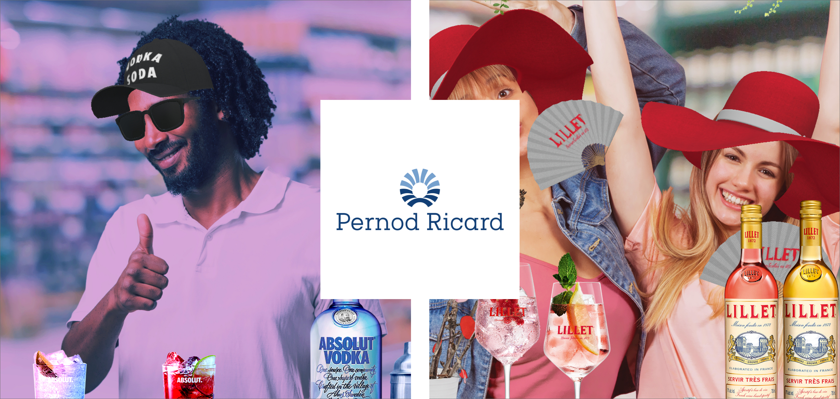 Interactive Ar worlds for Pernod Ricards promotion at the point of sale.