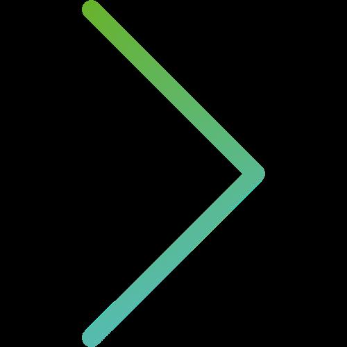Grünblauer Pfeil zeigt nach rechts