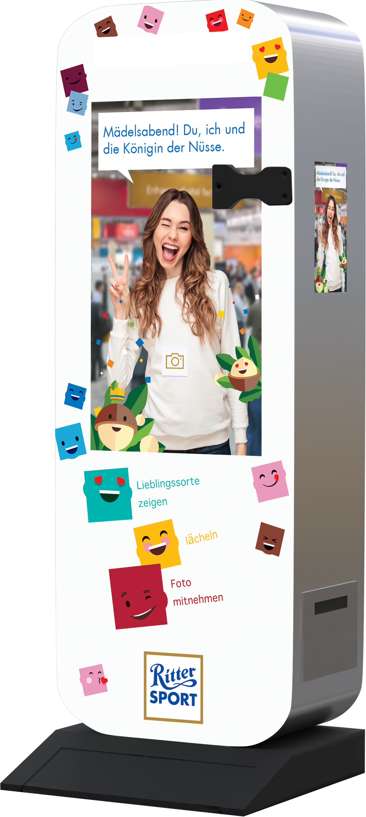 Photobox for an interactive AR campaign for Ritter Sport at the point of sale.