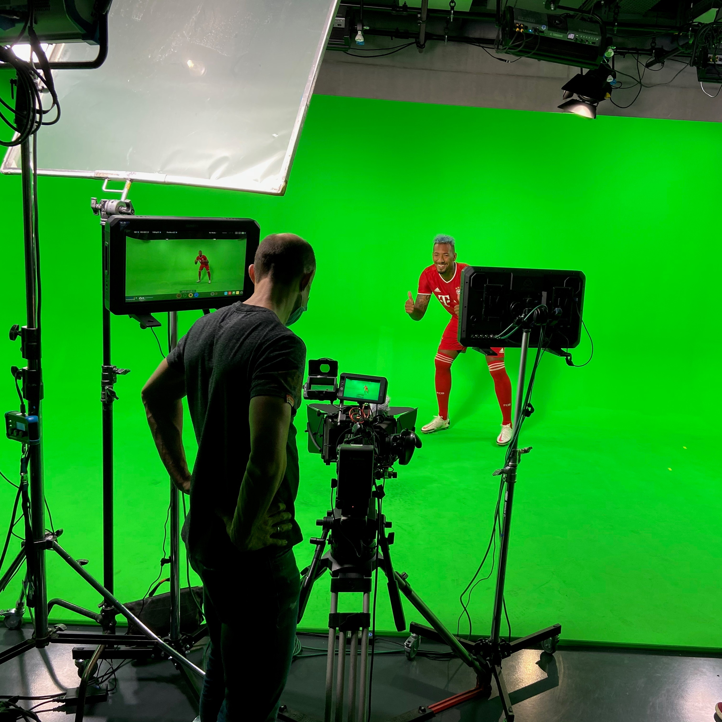 Professionelle green Screen Produktion für Augmented Reality Projekte.