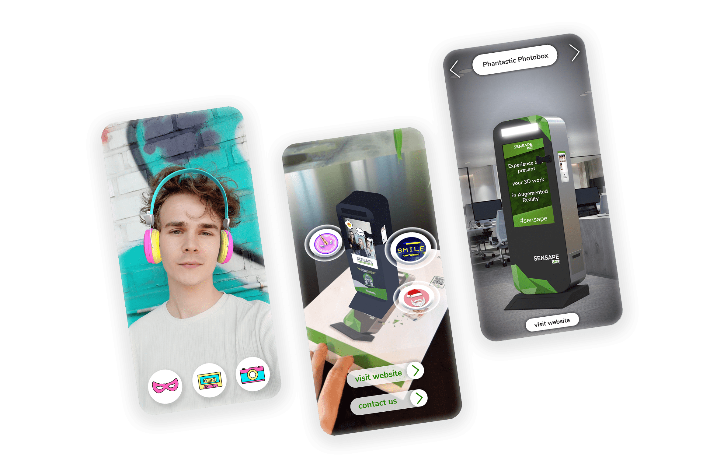 Augmented Reailty im Browser ohne App-Download. AR Flyer, Face-Filter.