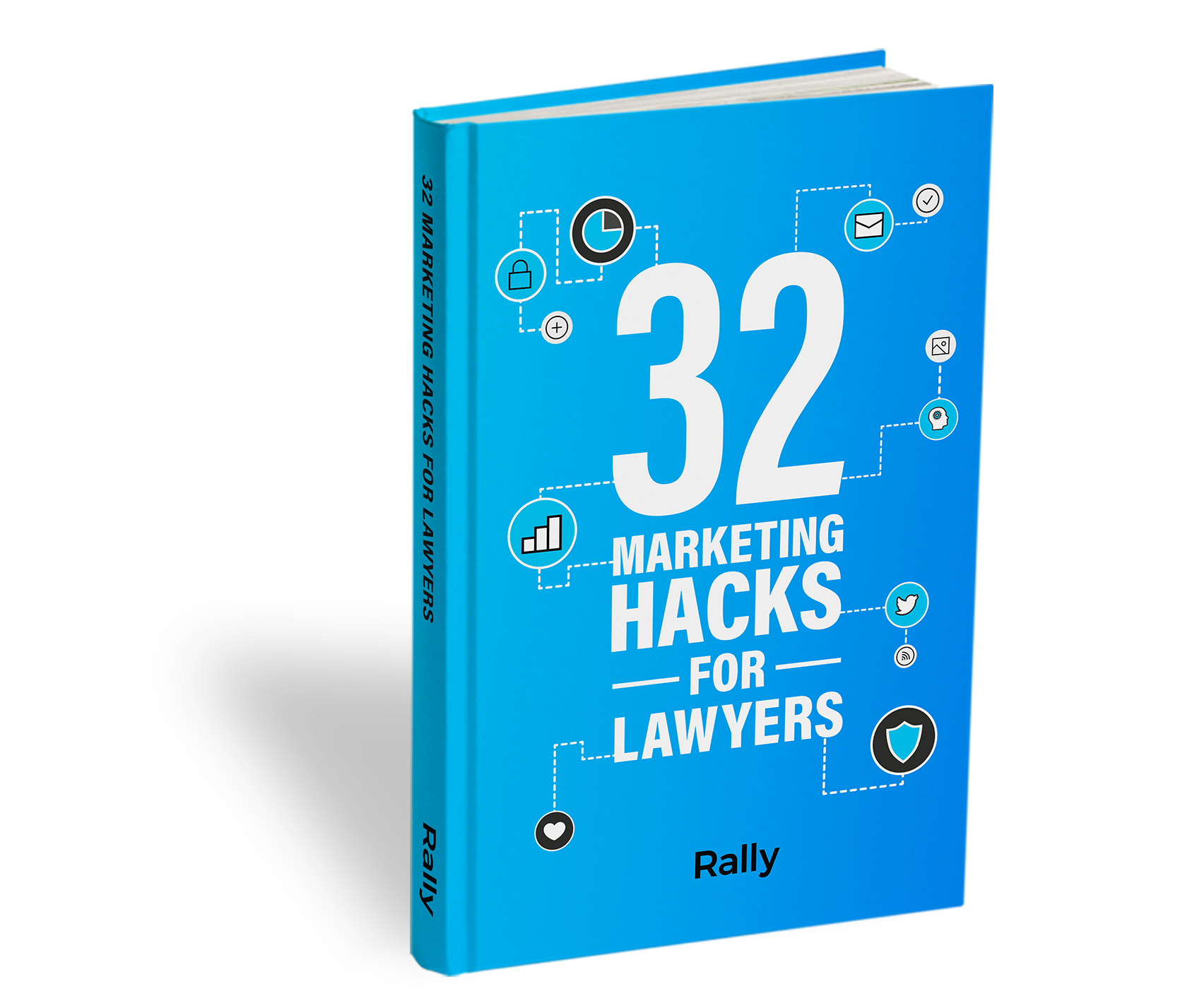 32 Marketing Hacks for Lawyers e-Book cover.