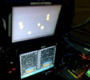 NeuroTracker in a jet plane cockpit