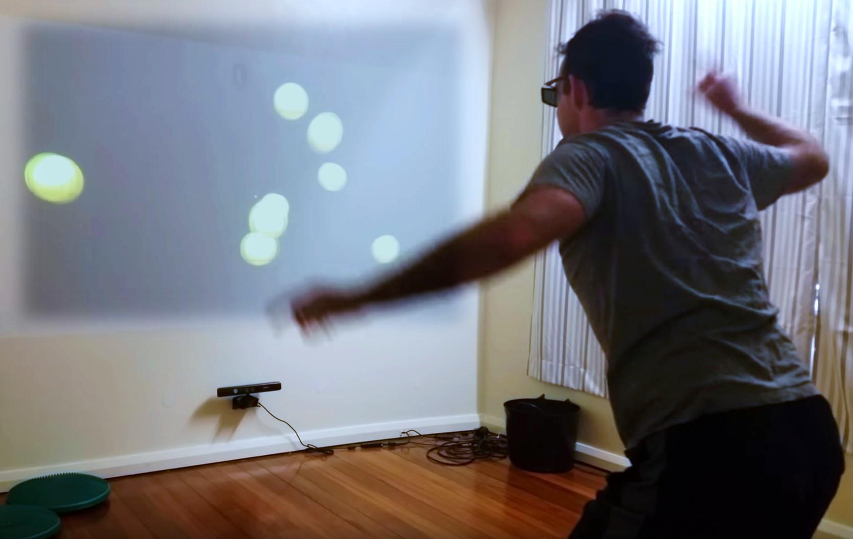 Rob Gronbeck doing NeuroTracker dual-tasks