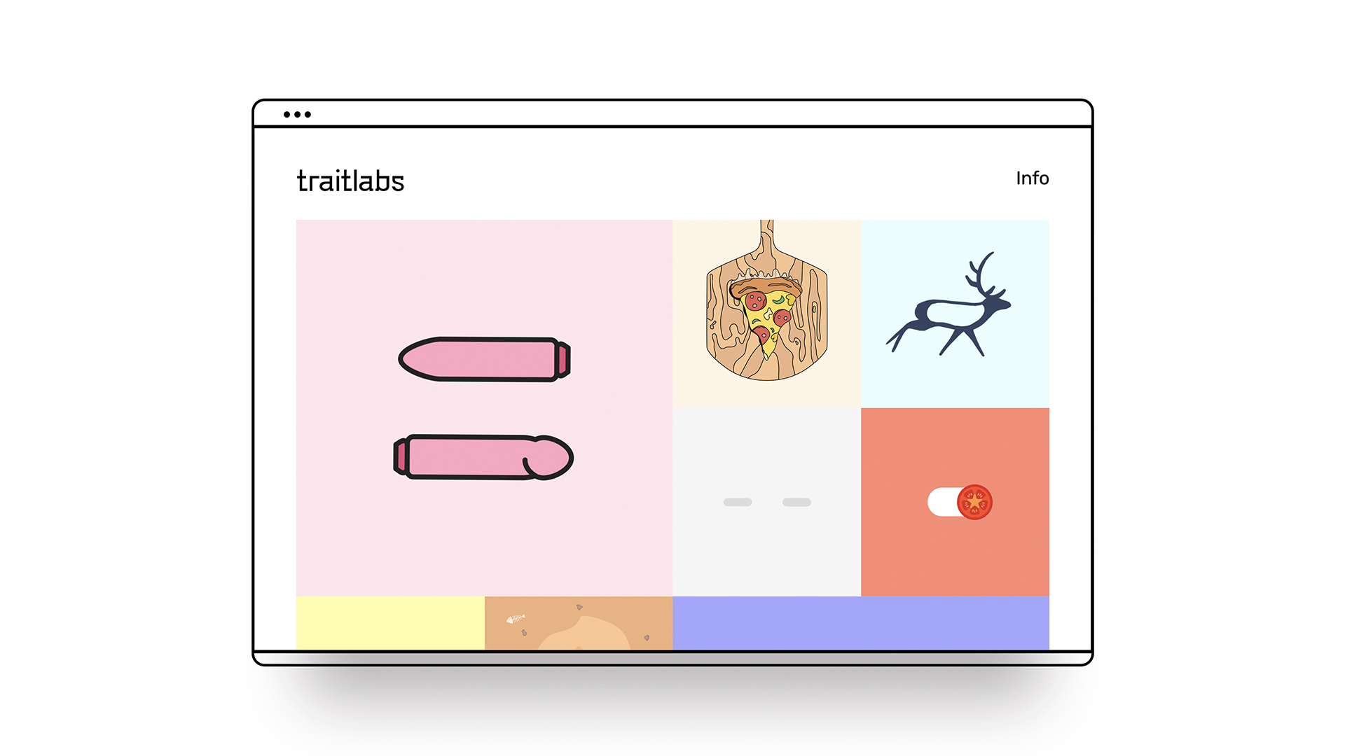 Trait labs website inside an illustrative browser