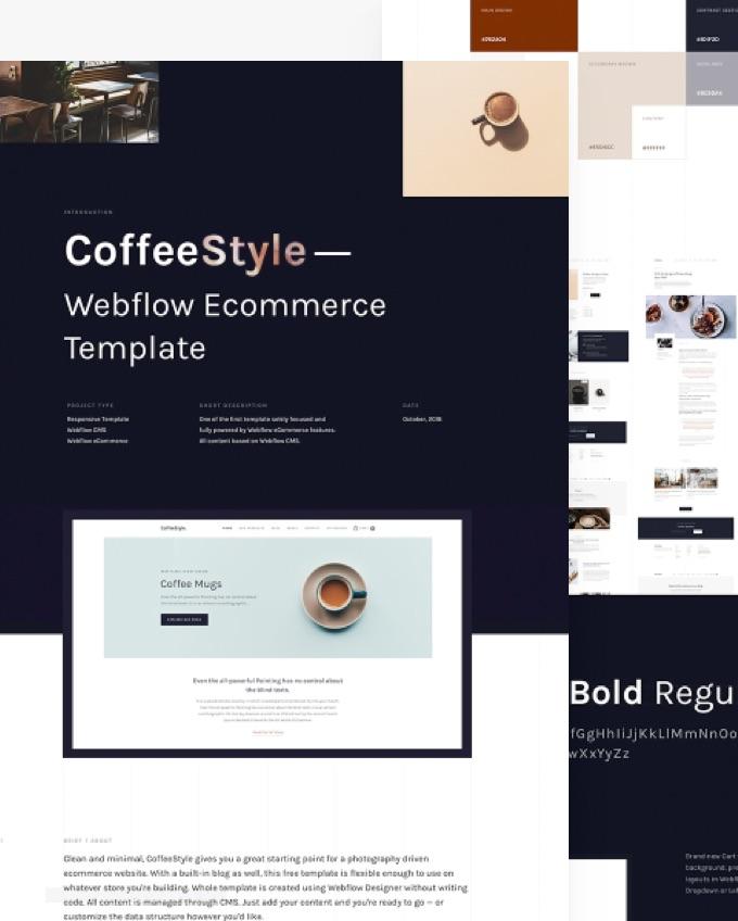CoffeeStyle | Webflow Template focused on Webflow Ecommerce