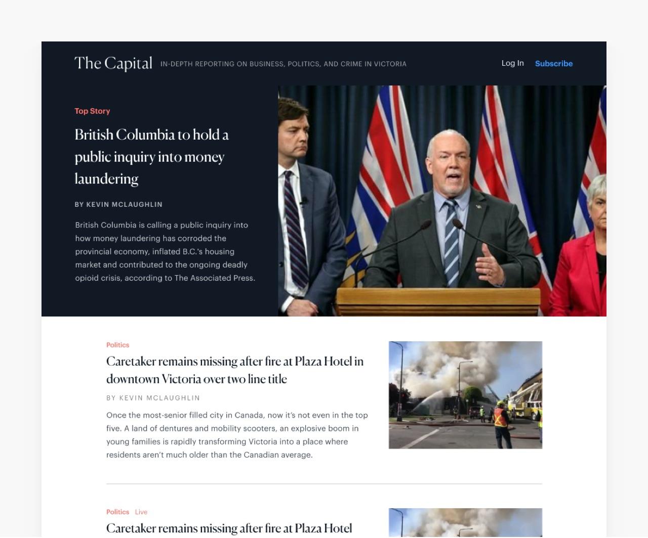 The Capital - Capnews.ca | Webflow + Partial Design