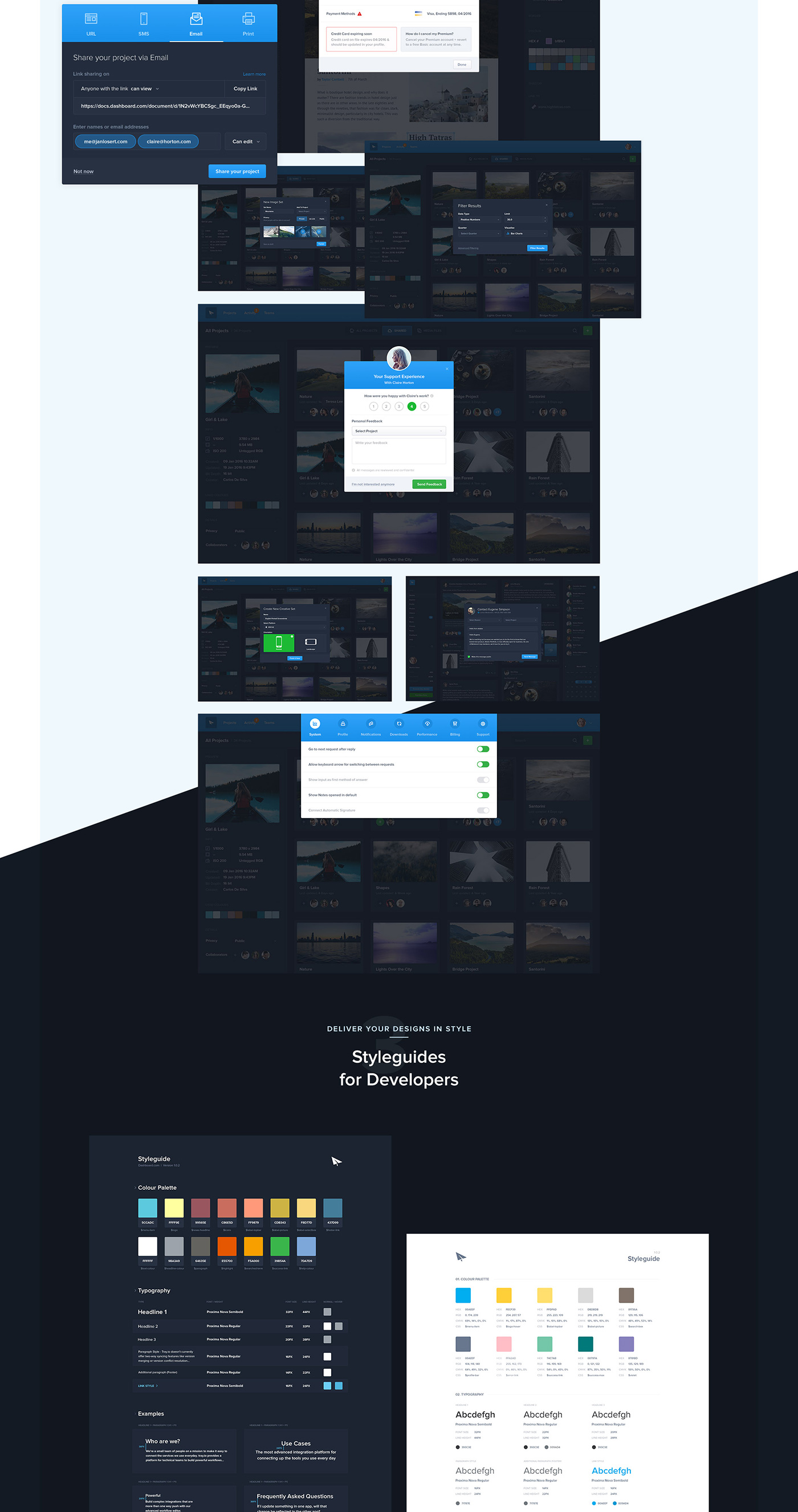 Full Preview 12 - Dashboard UI Kit (2017)