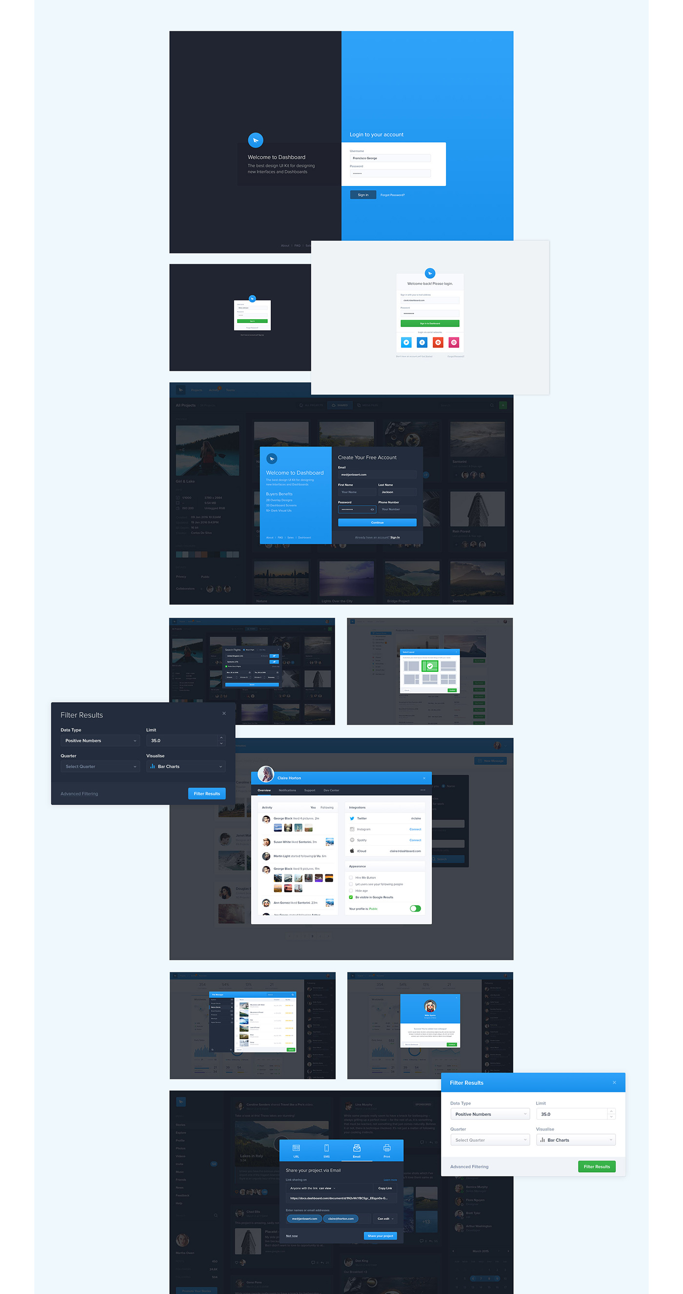Full Preview 10 - Dashboard UI Kit (2017)