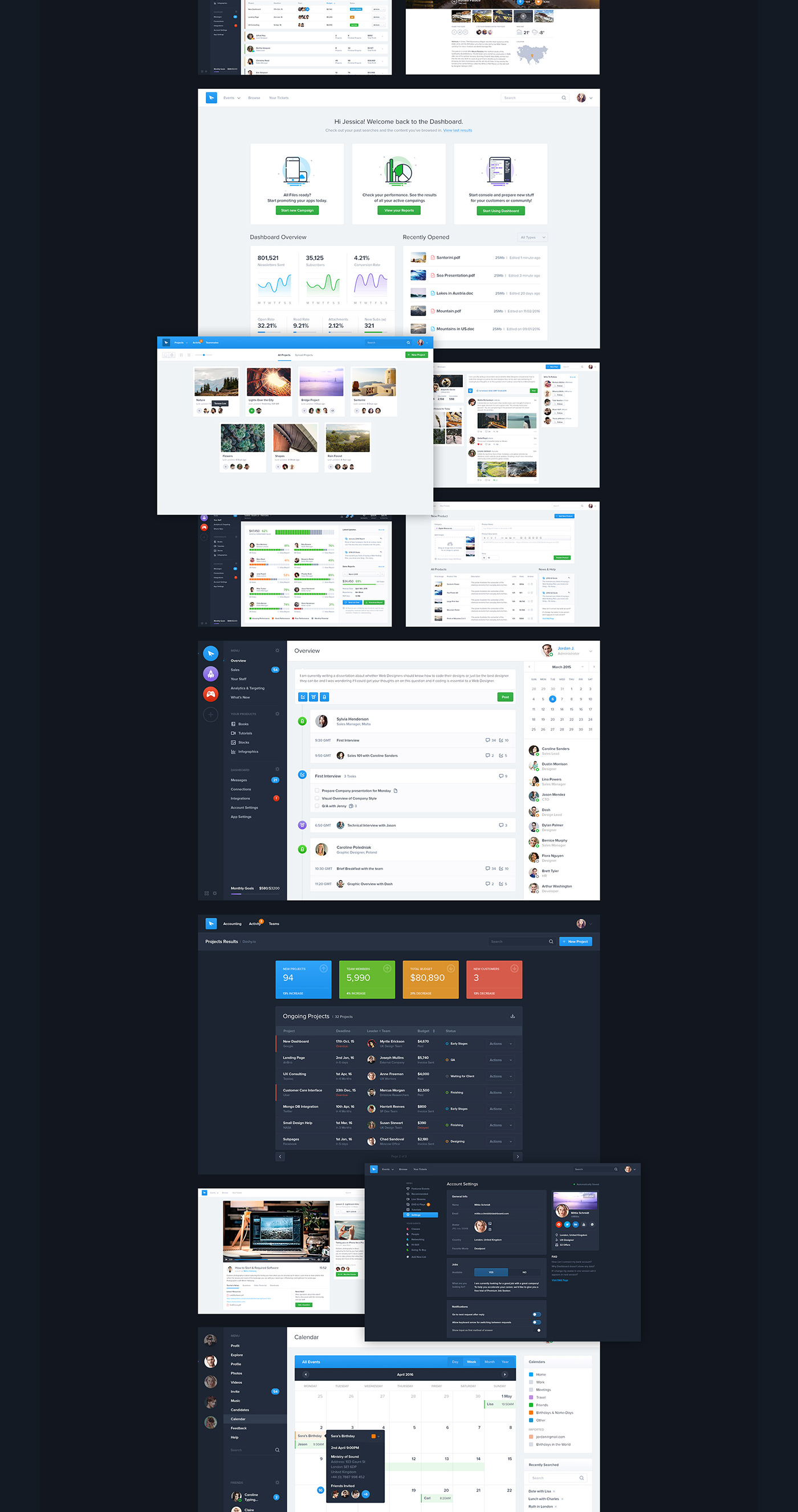 Full Preview 7 - Dashboard UI Kit (2017)