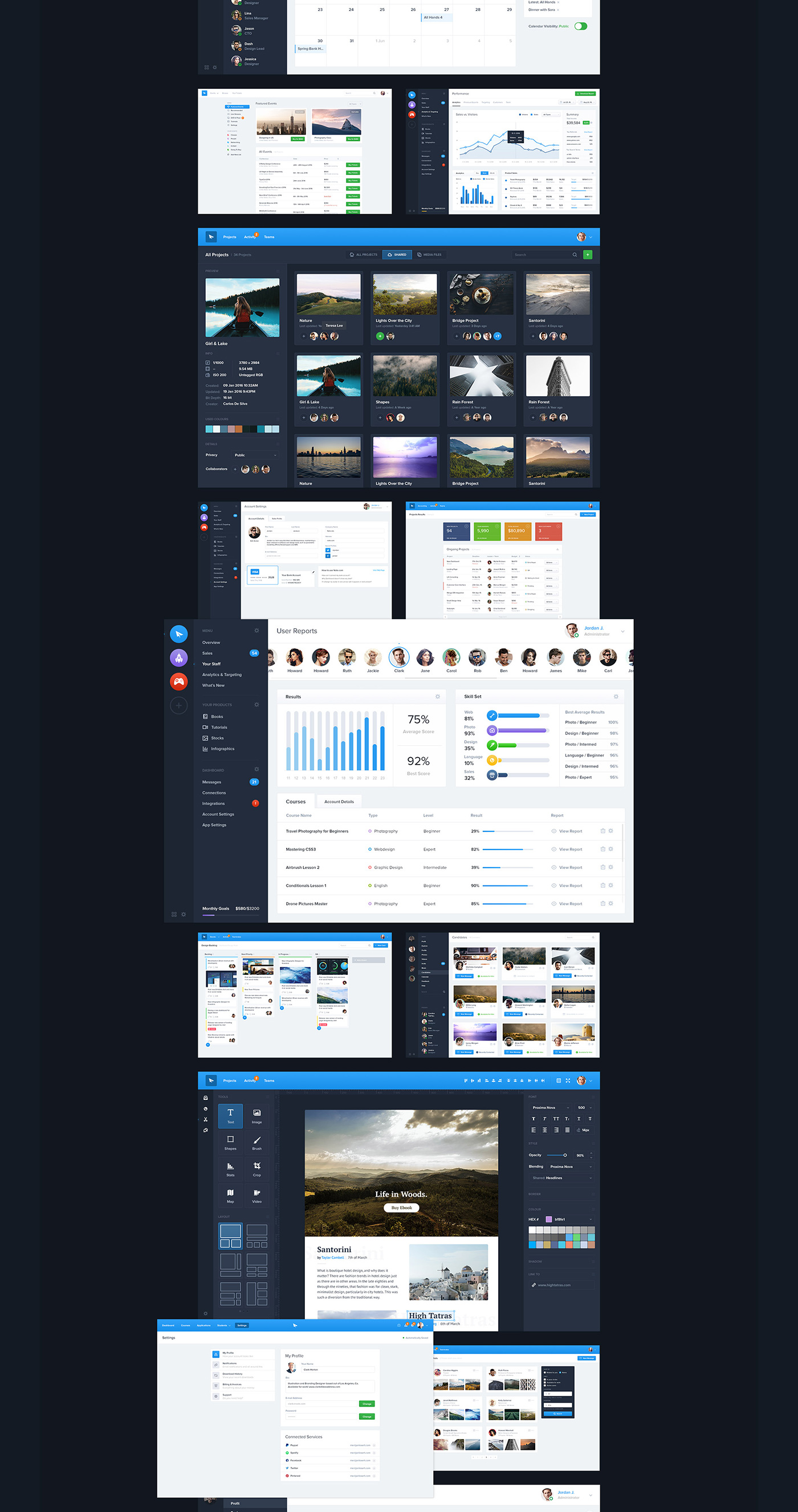 Full Preview 8 - Dashboard UI Kit (2017)