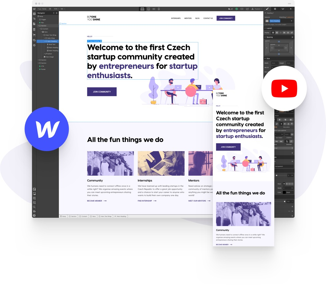 Creating a clean & simple website with Webflow Hero Image