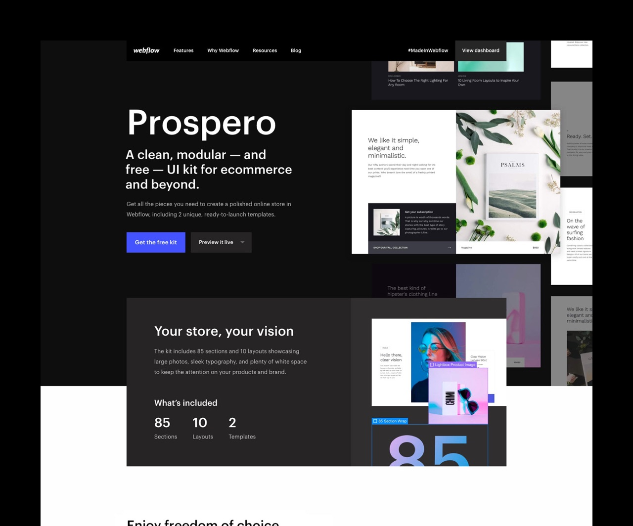 Prospero UI Kit - Jan Losert - First official Webflow UI Kit