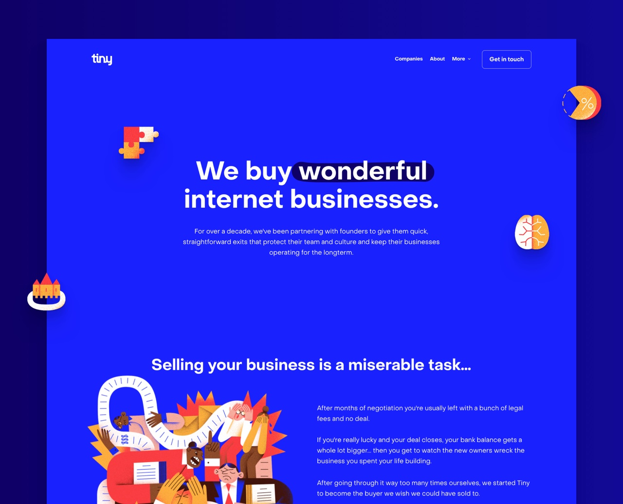Tiny Capital - Webflow Project
