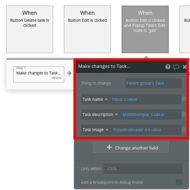 Task Popup Template for Bubble No Code Trello Clone