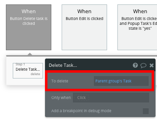 How to Build Trello Clone Bubble Workflow Delete Task Walkthrough