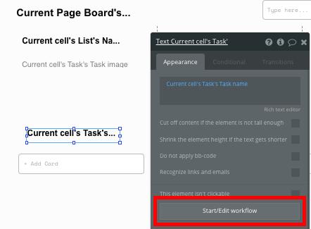 Task Repeating Group for Bubble No Code Trello Clone