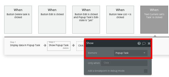 Bubble Workflow Trello Clone Task Popup