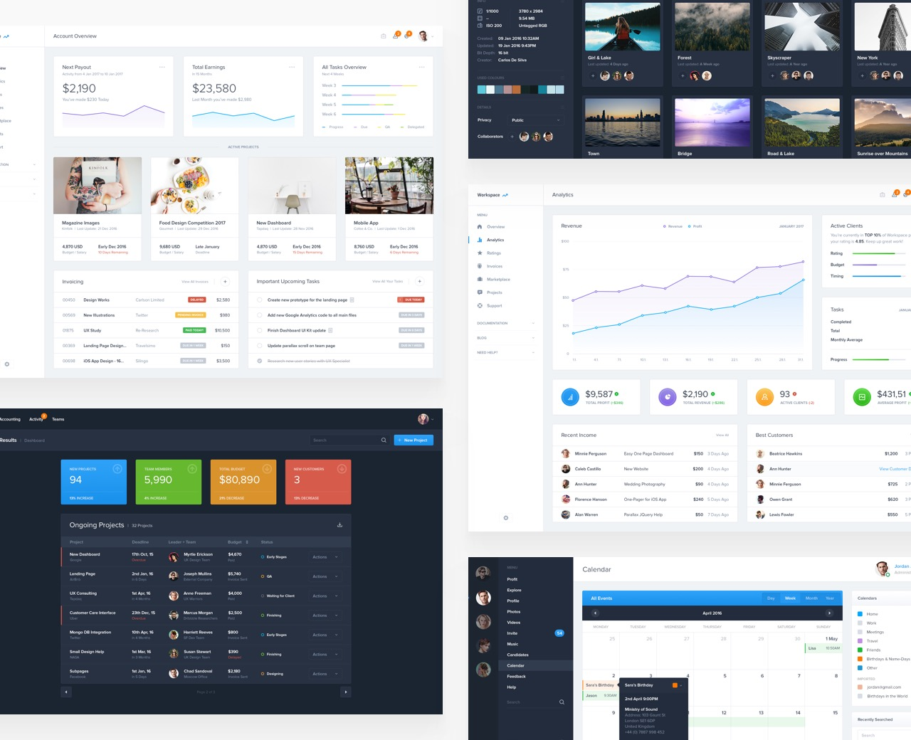 Dashboard UI Kit (2017)