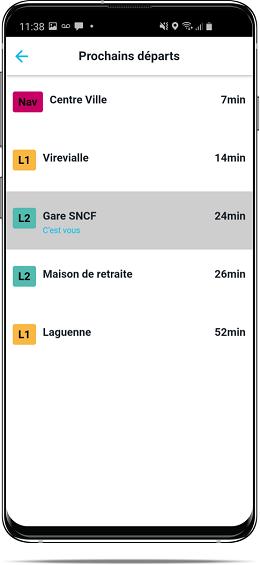 Capture d'écran gestion des correspondances pour les conducteurs SAEIV PYSAE