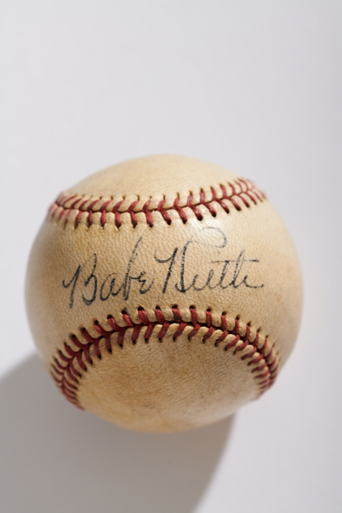 Babe Ruth Single Signed Baseball