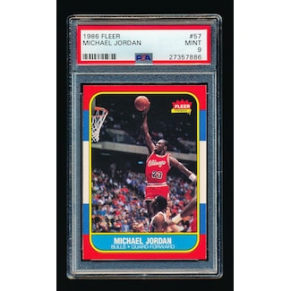 Michael Jordan Fleer #57 Rookie Card (PSA 10)